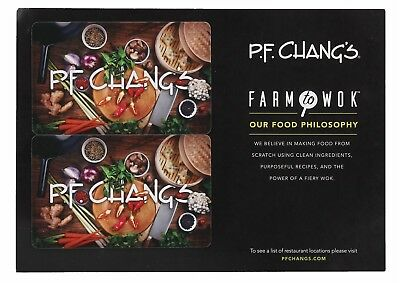 PF Changs Gift Card $100 - Mail Delivery
