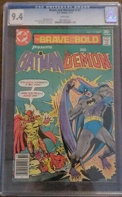 Batman & The Demon #137 Cgc 9.4 Brave And The Bold White Pages Dc Comics 10/1977
