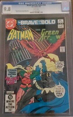Batman & Green Arrow #185 Cgc 9.8 Brave & The Bold White Pages Dc Comics 4/1982