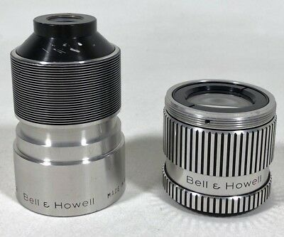 Vintage Bell & Howell Filmovara 16 mm 2 inch f/1.2 Projection Lens Set Made USA