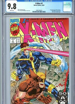 X-Men #1 CGC 9.8 White Pages Cyclops Wolverine Cover 1st Acolytes Marvel 1991