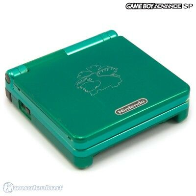 GameBoy Advance console GBA SP incl power supply #Leaf Green Pokemon Center Edt