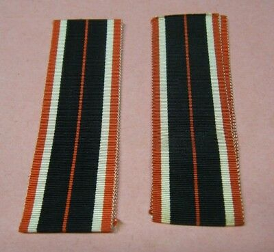 2 ORIGINAL! WWII WW2 German Iron cross 1939 Medal replacement Ribbons