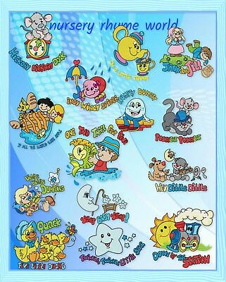 Nursery Rhyme World 15 Machine Embroidery Designs Cd 3 Sizes Included