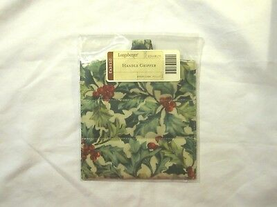 NEW Longaberger Fabric Handle Gripper - American Holly