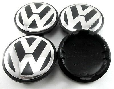 OEM Quality VW 65mm Wheel Caps Passat CC Eos Sharan Polo Golf Scirocco Cars