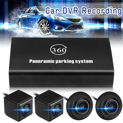 360° Bird  Panoramic System 4 Camera Car DVR Recording Parking HD Rear
