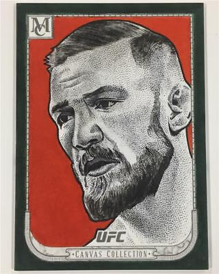 2018 Topps UFC Museum Collection CONOR McGREGOR Juan Rosales Sketch card # 1/1