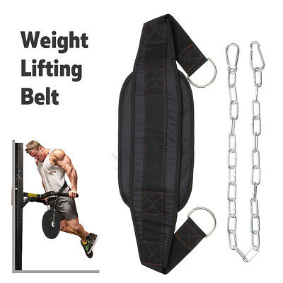 Weight Lifting Train s Gym Fitness Back Brace Support Pull-Up Training