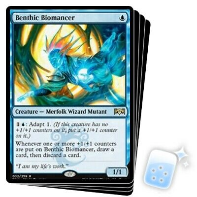 BENTHIC BIOMANCER X4 Ravnica Allegiance RNA Magic MTG MINT CARD