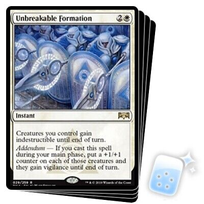 UNBREAKABLE FORMATION X4 Ravnica Allegiance RNA Magic MTG MINT CARD