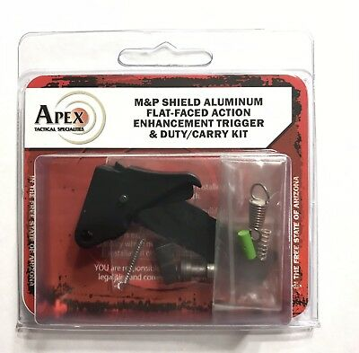 Apex S&W Shield Duty/Carry Flat-Faced Action Enhancement Trigger Kit 100-132
