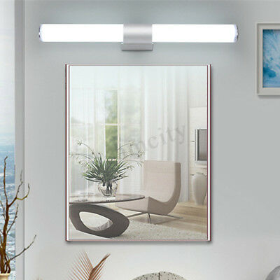 Modern Bathroom Vanity LED Light Acrylic Front Mirror Toilet Wall Lamp 12/16/22W