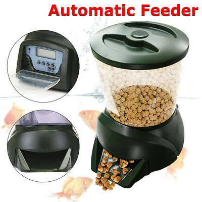 4.25L Fish Feeder Dispenser LCD Digital Automatic Pond Tank Holiday Food Timer
