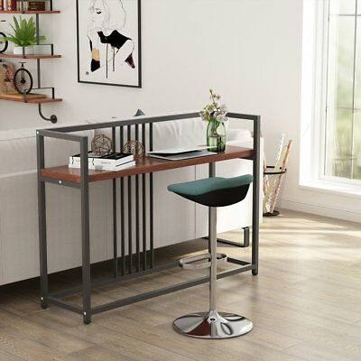 Modern Console Table Sofa Side Entry Hallway Storage Shelves Cubby Accent Stand