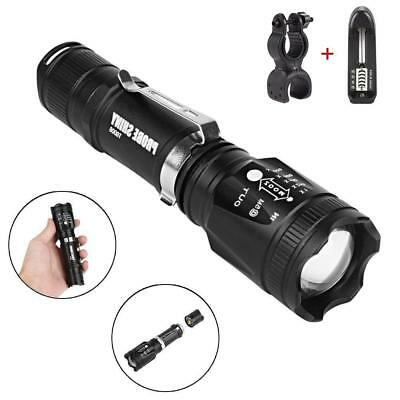 6000 Lm Zoomable X-XML T6 LED Flashlight Torch 4 Modes Super Bright AE