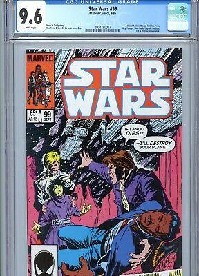 Star Wars #99 CGC 9.6 White Pages Marvel Comics 1985