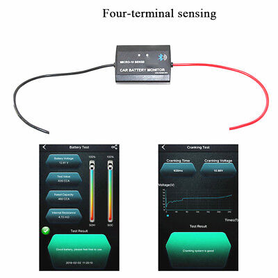 12V Car Battery Tester With Wireless Bluetooth Monitor For Android iPhone iPad