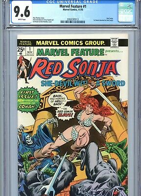 Marvel Feature #1 CGC 9.6 White Pages Red Sonja Marvel Comics 1975