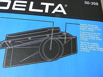 "Delta 50-359 12"" planer dust hood, fits Delta and PC (1-23)"
