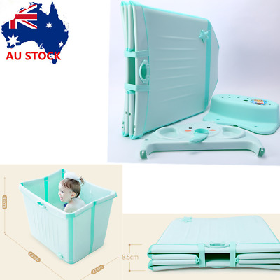 Portable Bathtub Foldable Bubble Bathtub Baby Toddlers Kids Water Chest Green