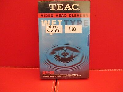 Sealed New Vhs Tape Head Cleaner Wet Type Rare