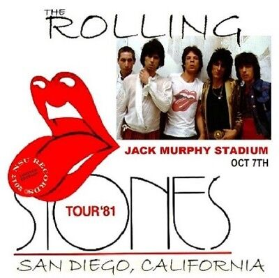 THE ROLLING STONES LIVE IN SAN DIEGO 1981 OCTOBER 7th  LTD 2 CD