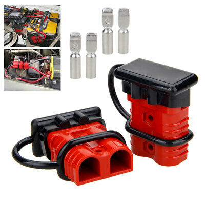 2 Plugs Quick Connector 175A Winch Trailer Battery Connect Wire Terminal Clamp