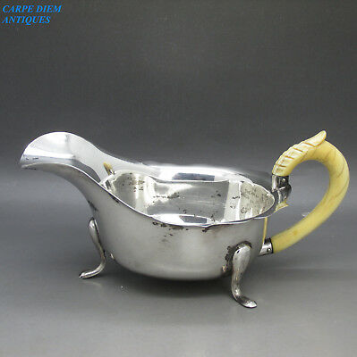 VINTAGE GOOD QUALITY SOLID STERLING SILVER SAUCE BOAT, 114g SHEFFIELD 1935