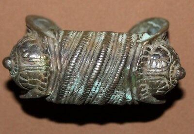 Antique medieval bronze woman fertility bracelet