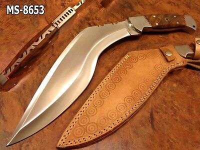 "15.5""kma Cutlery Custom D2 Tool Steel Full Tang Gurkha Kukri Bowie Knife Ms-8653"