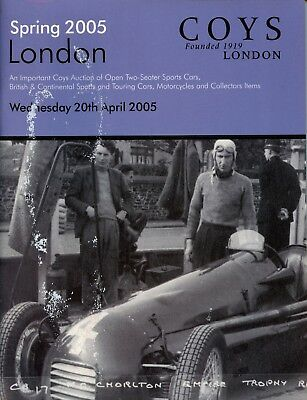 Coys Classic Car Auction Catalogue London 20/4/05