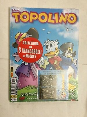 Topolino 3292 Con Francobolli Celebrativi IN METALLO Disney PANINI COMICS