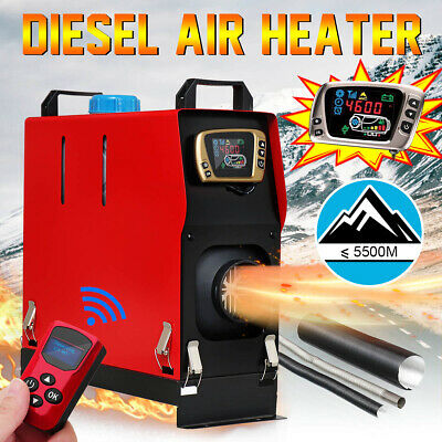 5KW 12V diesel Air Heater All in One LCD Monitor With Remote For Truck Bus Boat