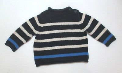 Boys Baby Gap Blue Striped Rollneck Pullover Sweater Size 12-18 Months