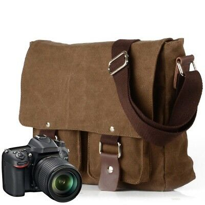 3f786683fca Waterproof Canvas DSLR Camera Bag Travel Shoulder Messenger Bag for Canon  Nikon