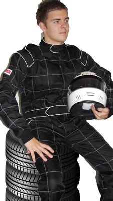 Go Kart Race Suit Black Large/xl
