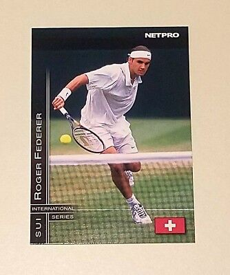 2003 Roger Federer rookie rc r (r) tennis trading card #11 INTERNATIONAL SERIES