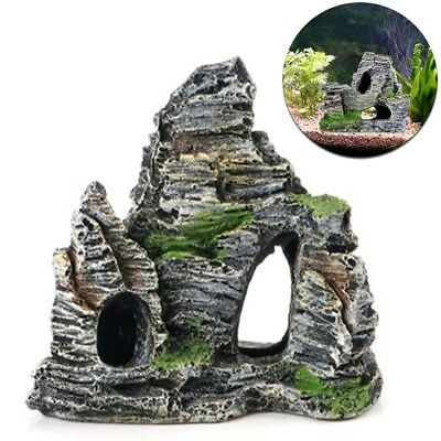 Mountain View Aquarium Rock Cave Tree Bridge Fish Tank Ornament Rockery Decor