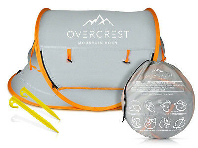 Overcrest Portable Beach Pop up Tent for Babies, Outdoor Travel Baby Crib, UPF50