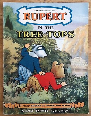 RUPERT Adventure Series No 14 Rupert in the TREE TOPS AUGUST 1952 VG PLUS