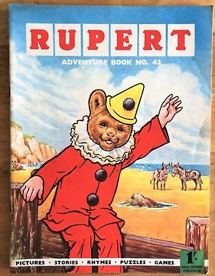 RUPERT Adventure Series No 42 Rupert Adventure Book 1962 FINE JANUARY SALE!