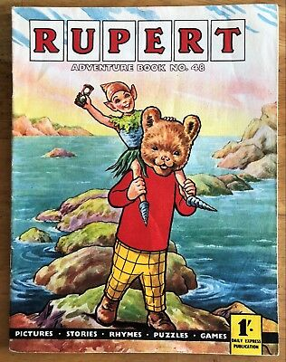 RUPERT Adventure Series No 48 Rupert Adventure Book 1962 VG/F SCARCE JAN SALE!