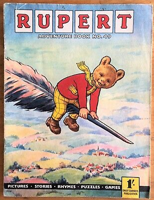 RUPERT Adventure Series No 49 Rupert Adventure Book 1963 FINE SCARCE JAN SALE!