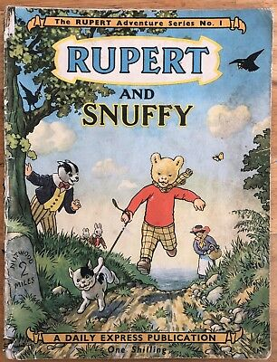 RUPERT Adventure Series NUMBER 1 MARCH 1949 GOOD worn example