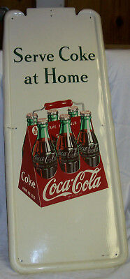 Serve Coke At Home Metal Pilaster 6 Pack Sign 41 X 16 Without Button