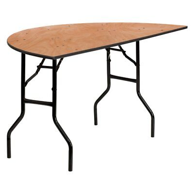 Flash Furniture YT-WHRFT60 60 in. Half-Round Wood Folding Banquet Table