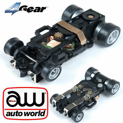 Auto world 4Gear Replacement HO Slot Car Complete Chassis Autoworld