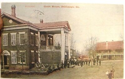Vintage Antique 1912 Postcard Court House Dahlonega Georgia
