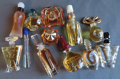 12 Pc Lot Vintage Mini Perfume Most Full Lancome Giorgio Taylor Halston Guerlain